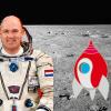 Astro André op de maan