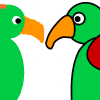 Bitmap and vector parrot